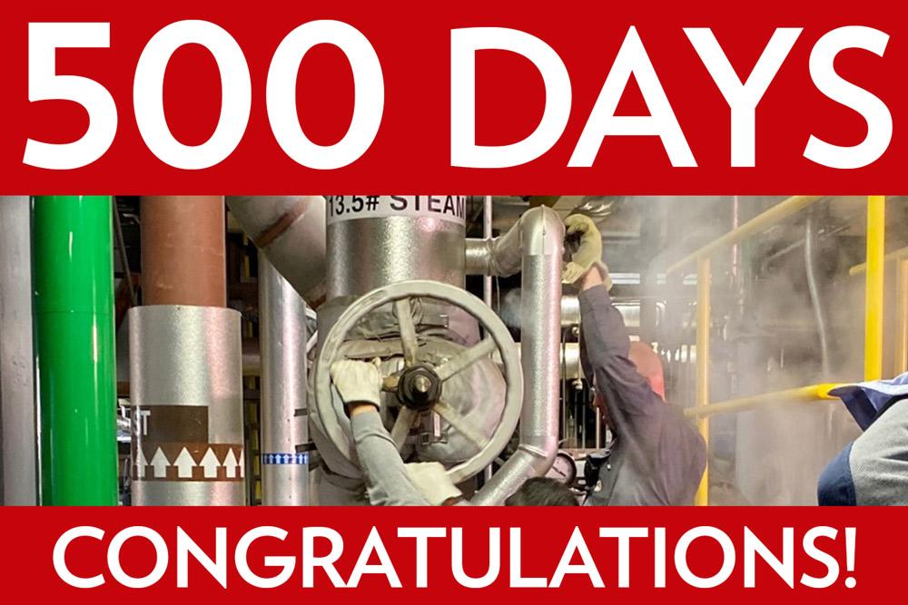 500 Days-Congratulations!