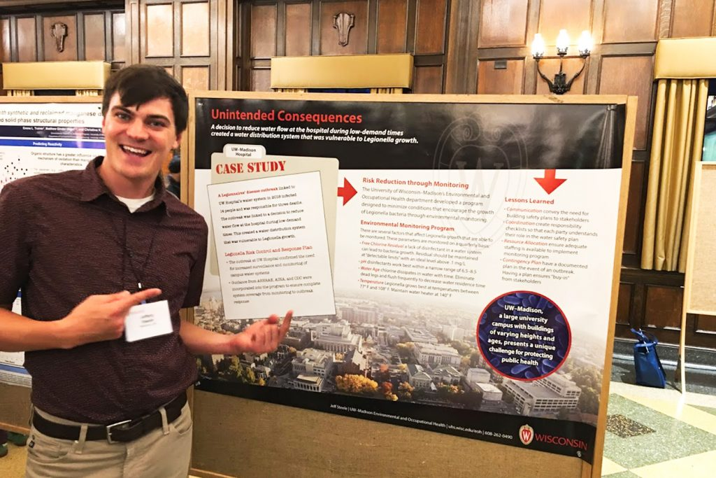 Steele presents poster at Water@UW conference