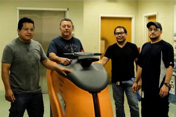 2019 Team Work Recognition Award Winners pictured: Rosalino Chavez, Leonardo Orea, Ernesto Cruz, Roger Dote