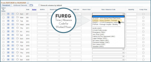"""FUREG"" ""Time/Absence Code for Worked Hours"""