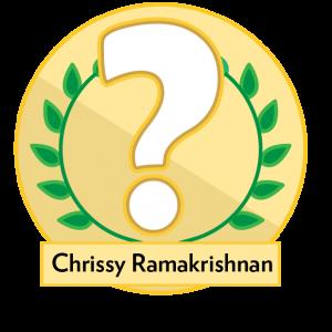 Trivia award image with Question Mark: Chrissy Ramakrishnan