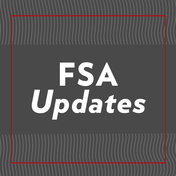 """FSA Updates"" decorative image"