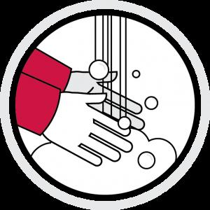 icon illustration: hand-washing