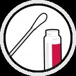 icon: testing vial and cotton swab
