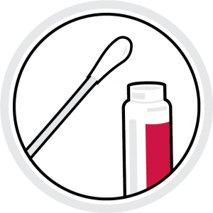 icon illustration: test vial and cotton swap