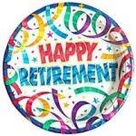 """happy retirement"" on ballon"