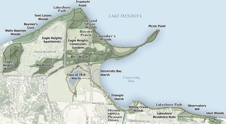 Map: Lakeshore Nature Preserve